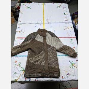 Women's Size Medium Acrylic Sweater Jacket